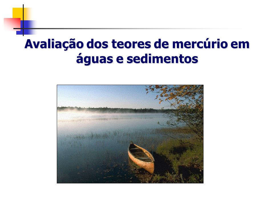 Avaliação dos teores de mercúrio em águas e sedimentos