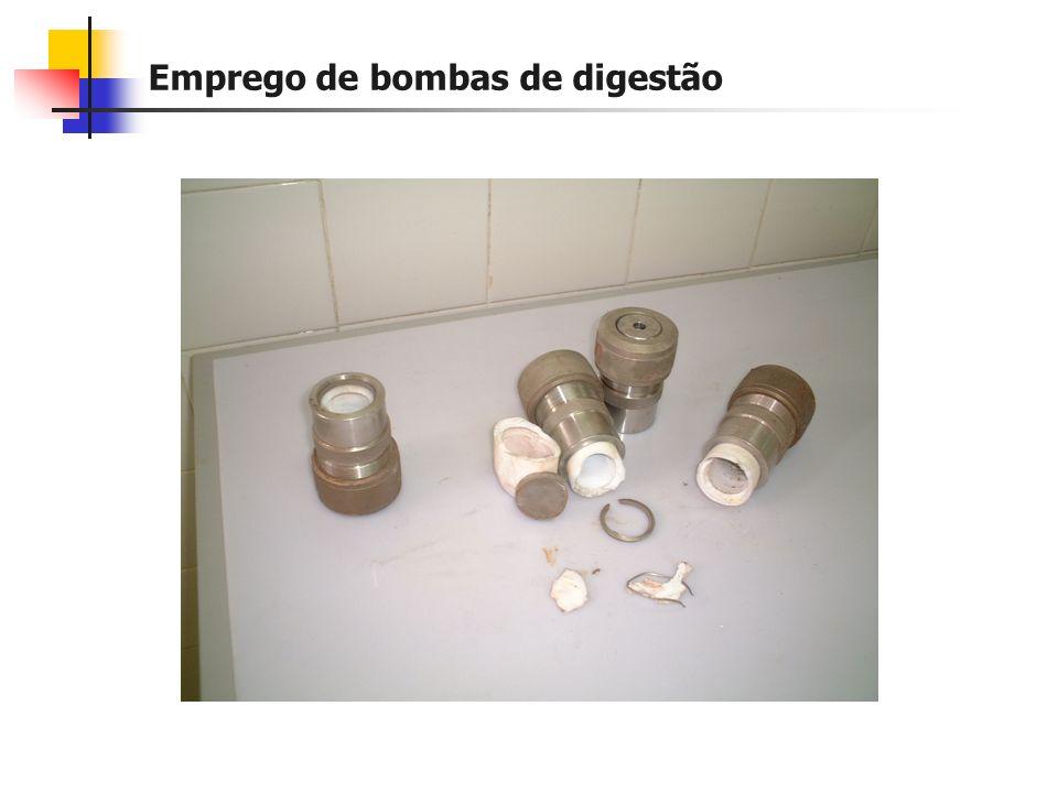 Emprego de bombas de digestão