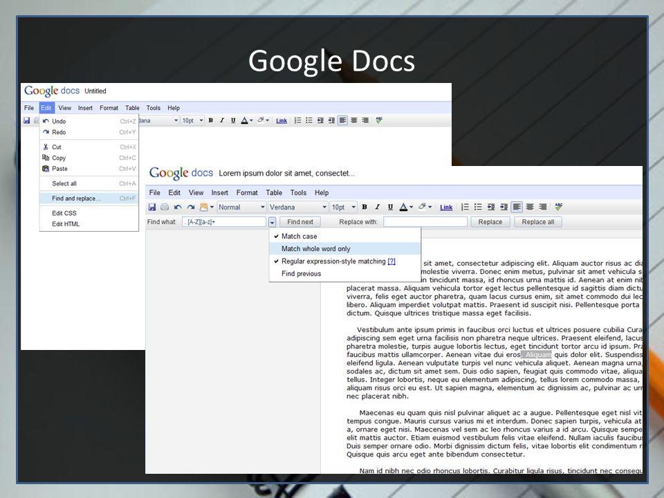 Editores de texto (Google docs e vim)