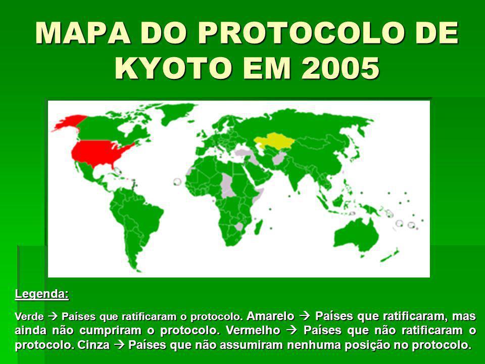 MAPA DO PROTOCOLO DE KYOTO EM 2005