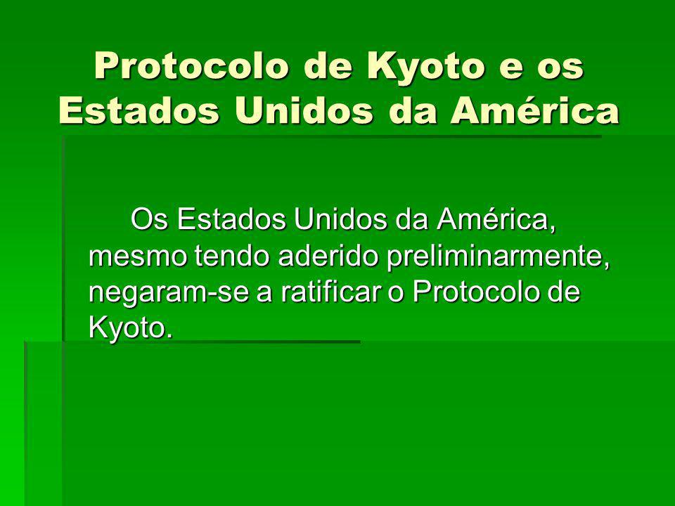 Protocolo de Kyoto e os Estados Unidos da América