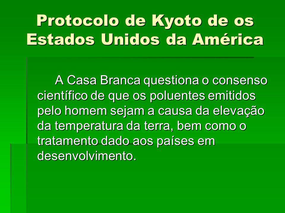 Protocolo de Kyoto de os Estados Unidos da América