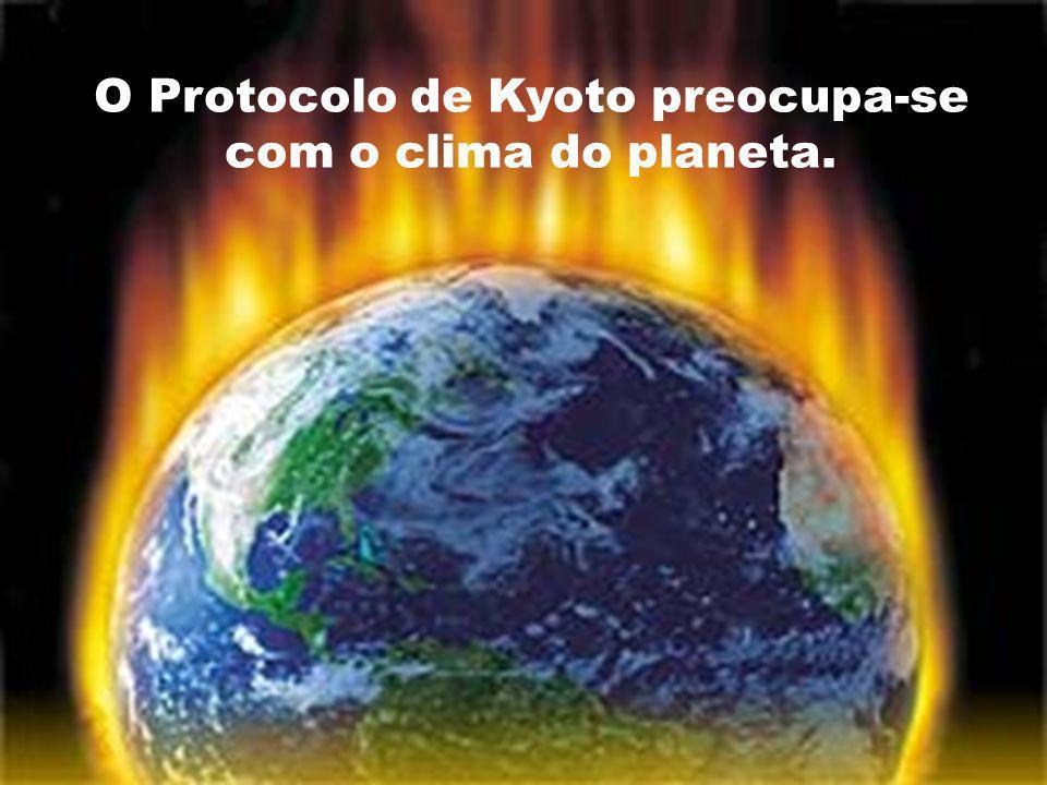 O Protocolo de Kyoto preocupa-se com o clima do planeta.