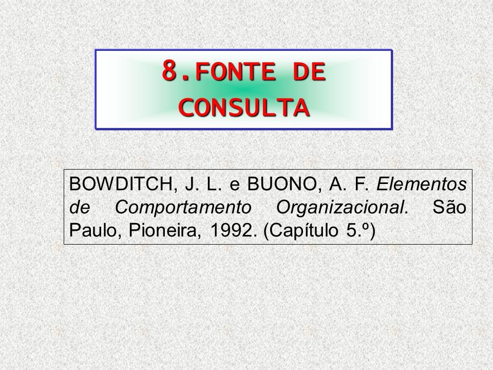 8.FONTE DE CONSULTA BOWDITCH, J. L. e BUONO, A. F.