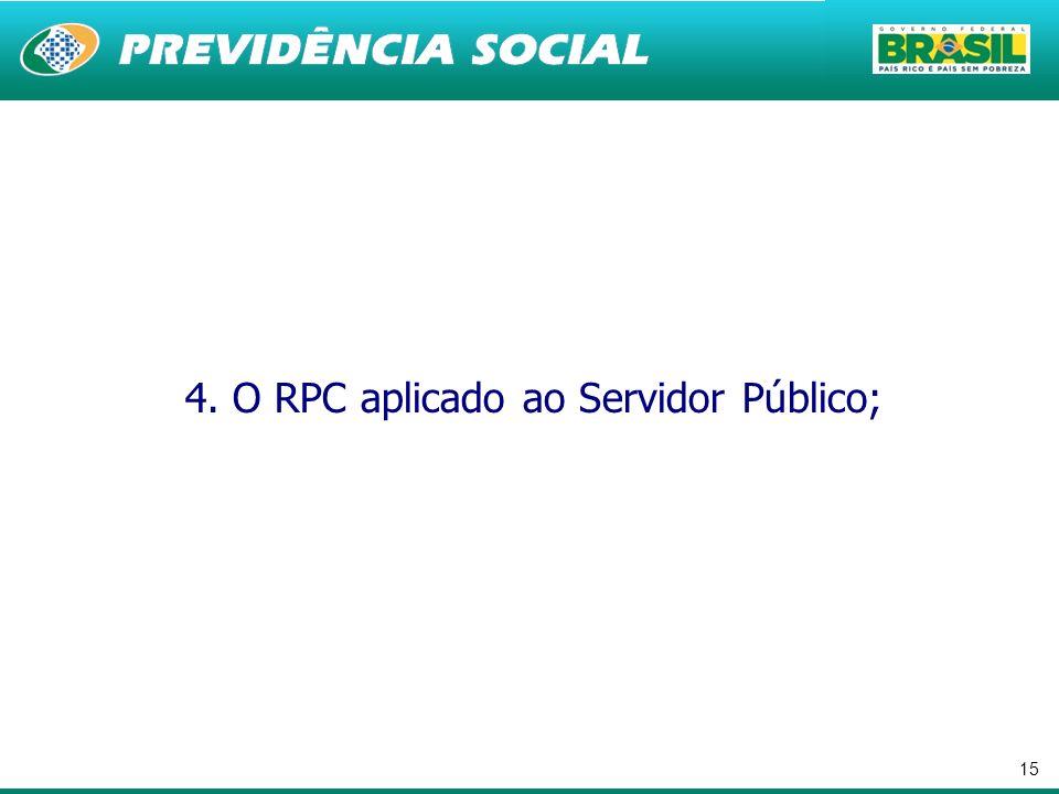 4. O RPC aplicado ao Servidor Público;