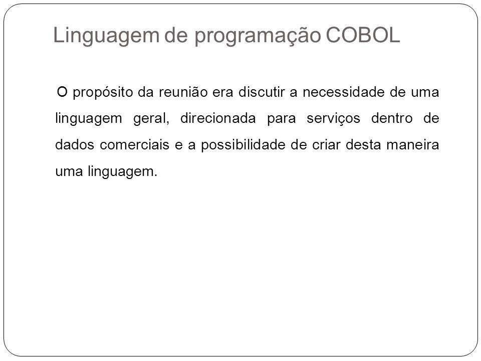 Linguagem de programação COBOL