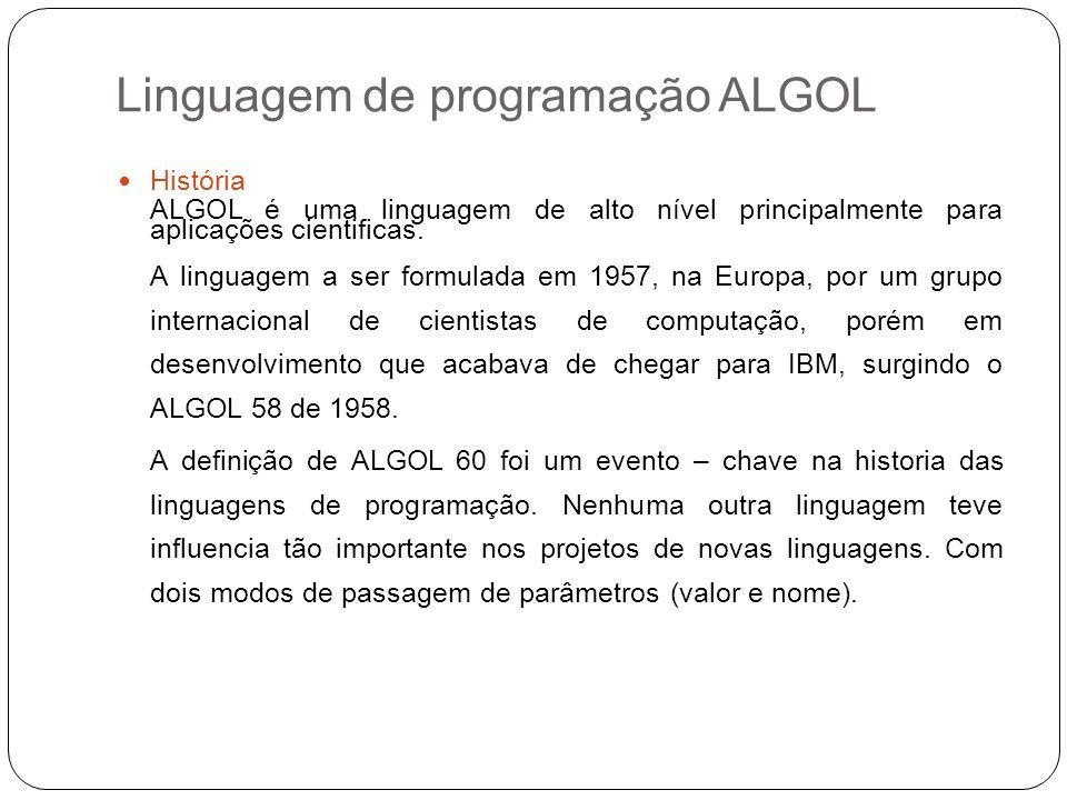 Linguagem de programação ALGOL