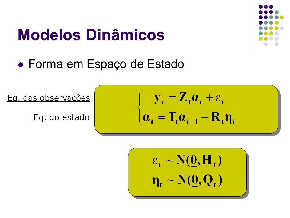 Modelos Dinâmicos Forma em Espaço de Estado Eq. das observações