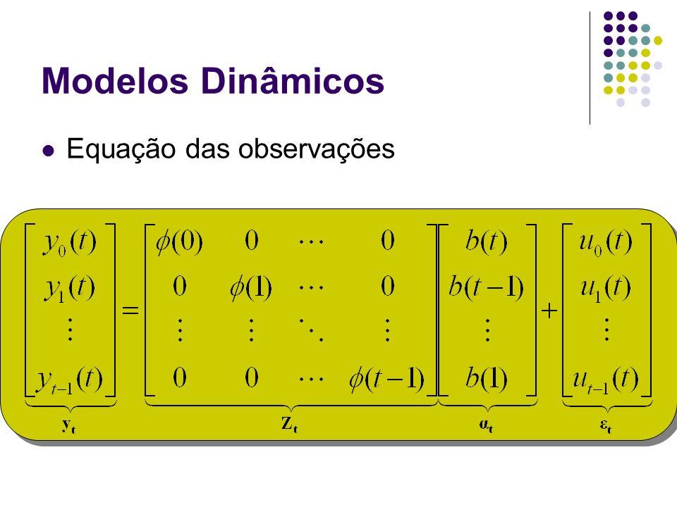 Modelos Dinâmicos Equação das observações