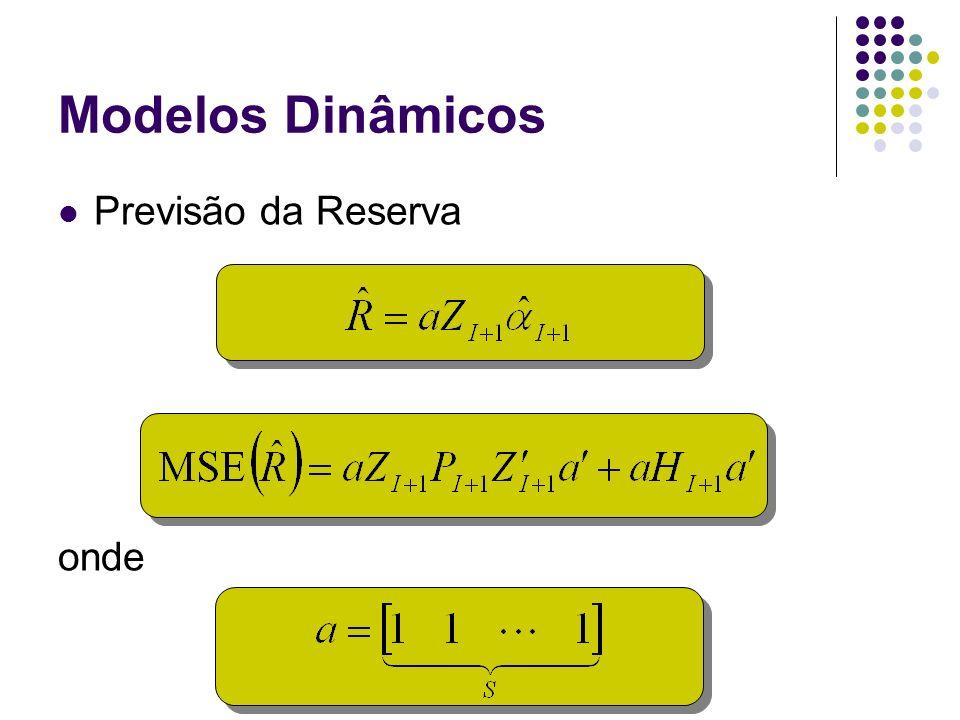 Modelos Dinâmicos Previsão da Reserva onde