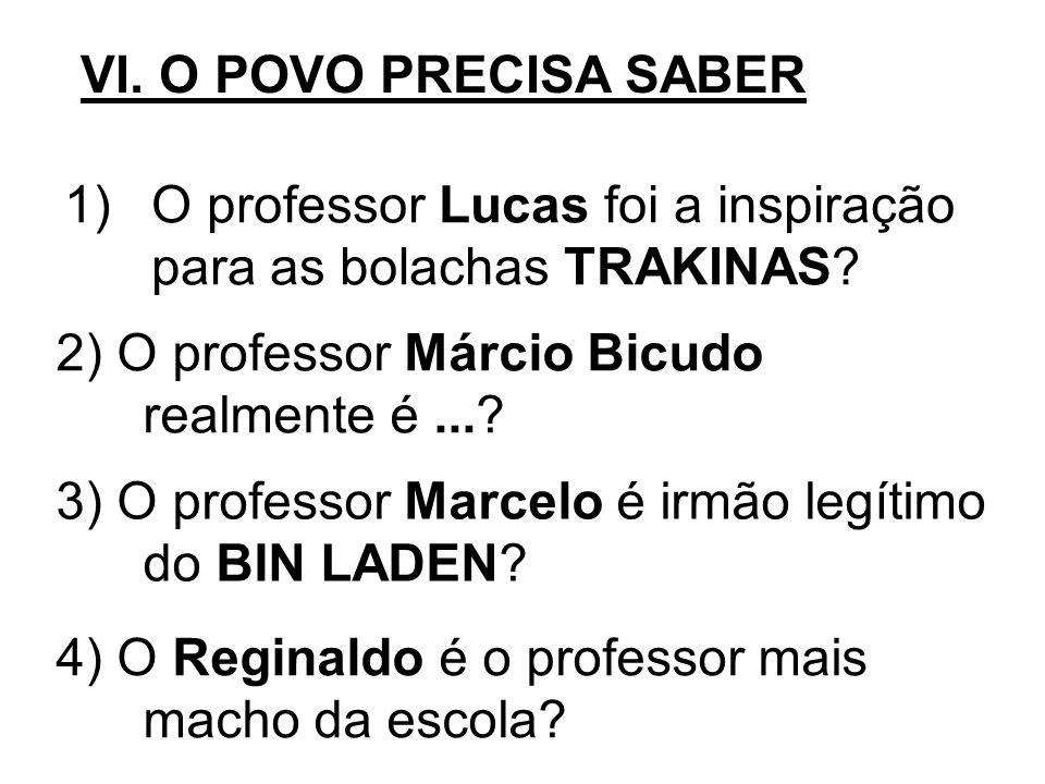 O professor Lucas foi a inspiração para as bolachas TRAKINAS