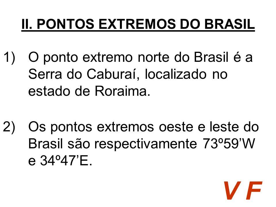 II. PONTOS EXTREMOS DO BRASIL