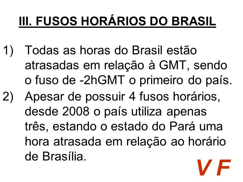 III. FUSOS HORÁRIOS DO BRASIL
