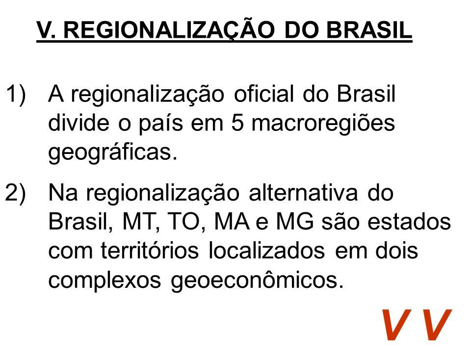 V. REGIONALIZAÇÃO DO BRASIL