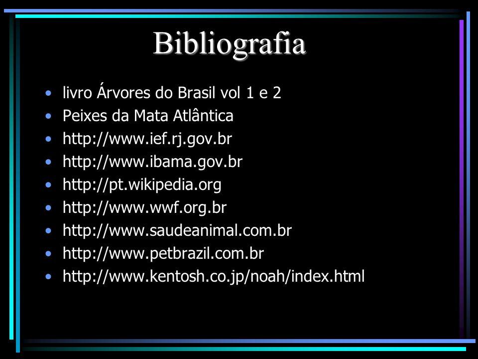 Bibliografia livro Árvores do Brasil vol 1 e 2