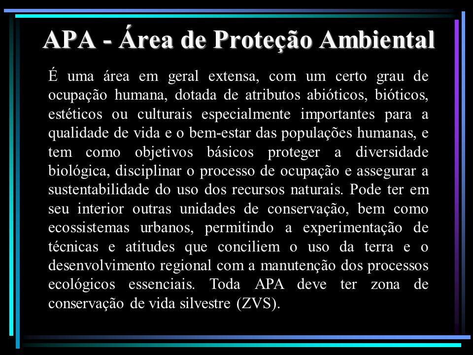 APA - Área de Proteção Ambiental