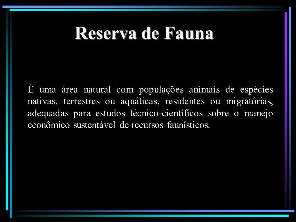 Reserva de Fauna