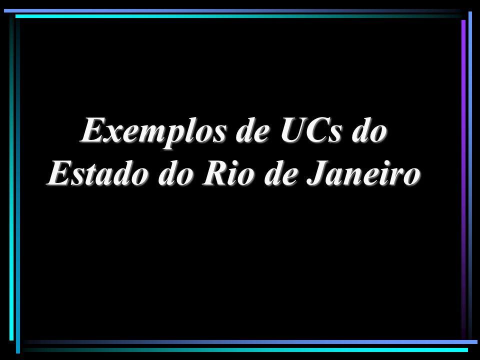 Exemplos de UCs do Estado do Rio de Janeiro