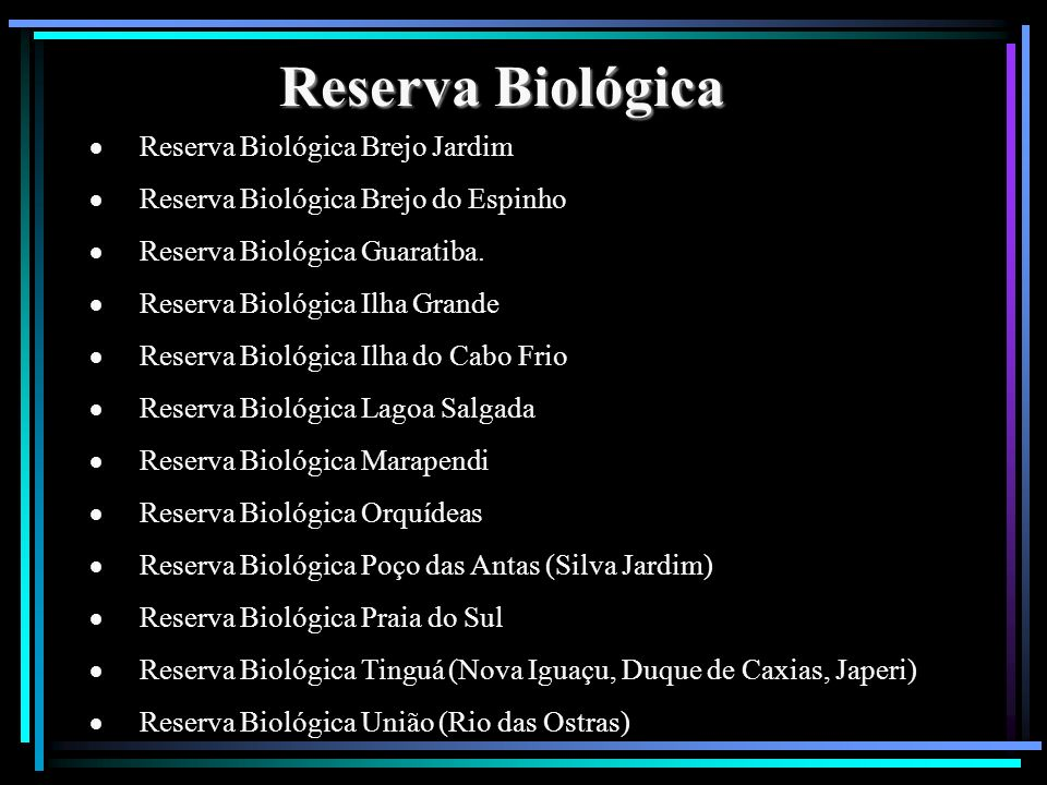 Reserva Biológica · Reserva Biológica Brejo Jardim