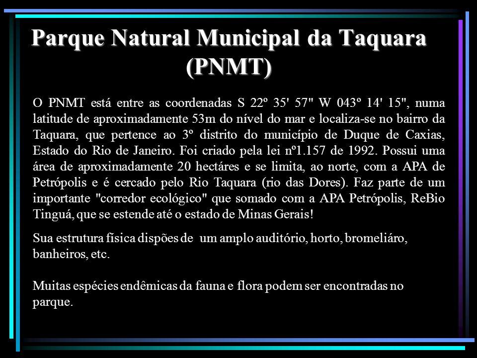 Parque Natural Municipal da Taquara (PNMT)