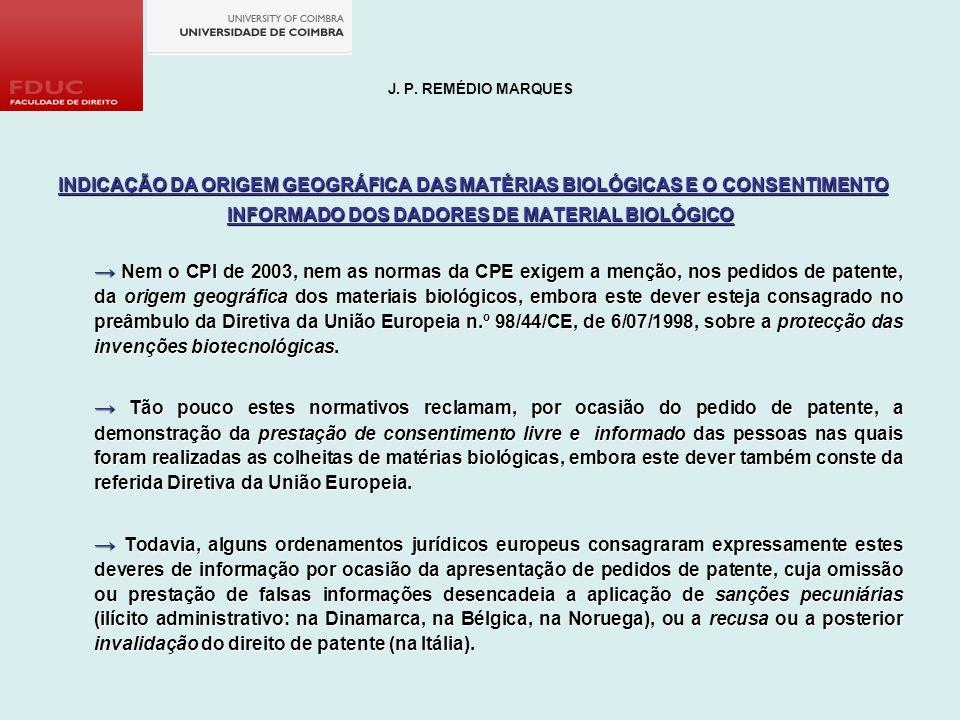 INFORMADO DOS DADORES DE MATERIAL BIOLÓGICO