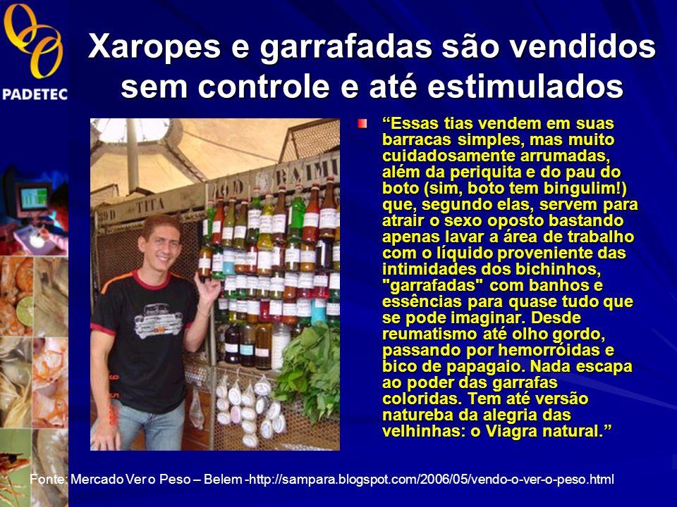 Xaropes e garrafadas são vendidos sem controle e até estimulados