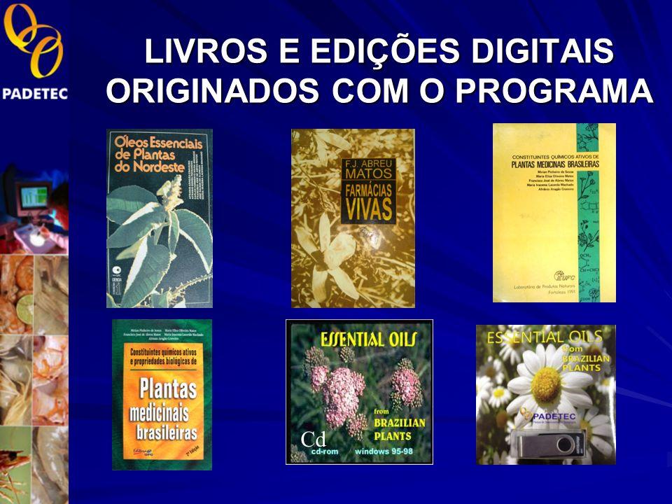 LIVROS E EDIÇÕES DIGITAIS ORIGINADOS COM O PROGRAMA