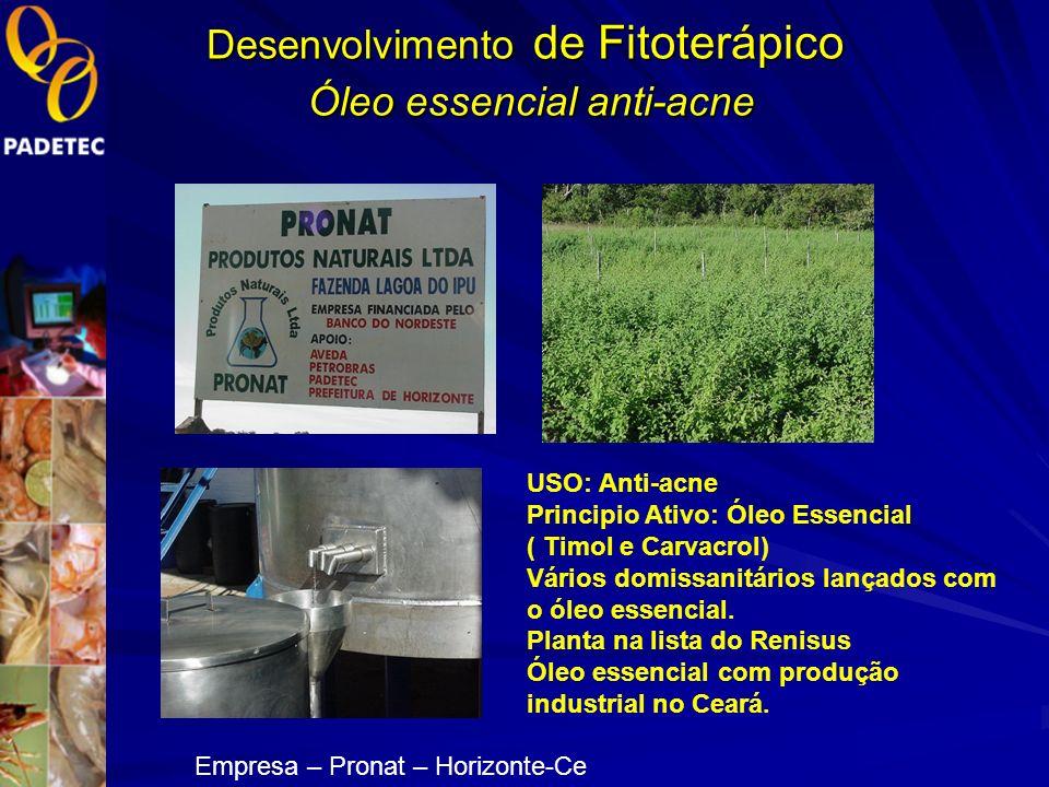 Desenvolvimento de Fitoterápico Óleo essencial anti-acne