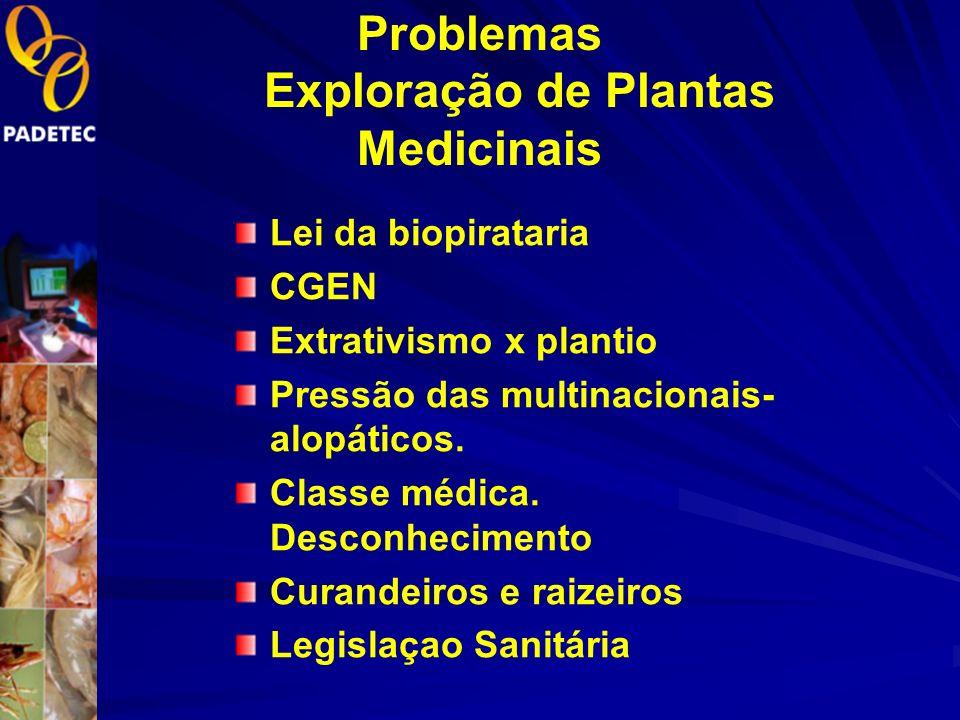 Problemas Exploração de Plantas Medicinais