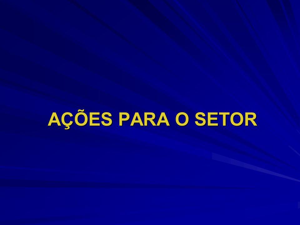 AÇÕES PARA O SETOR