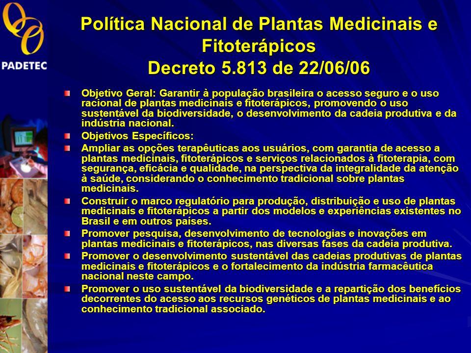 Política Nacional de Plantas Medicinais e Fitoterápicos Decreto 5