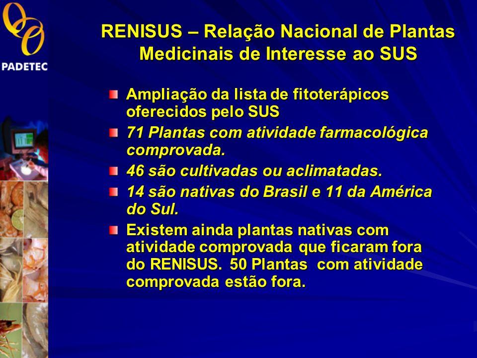 RENISUS – Relação Nacional de Plantas Medicinais de Interesse ao SUS