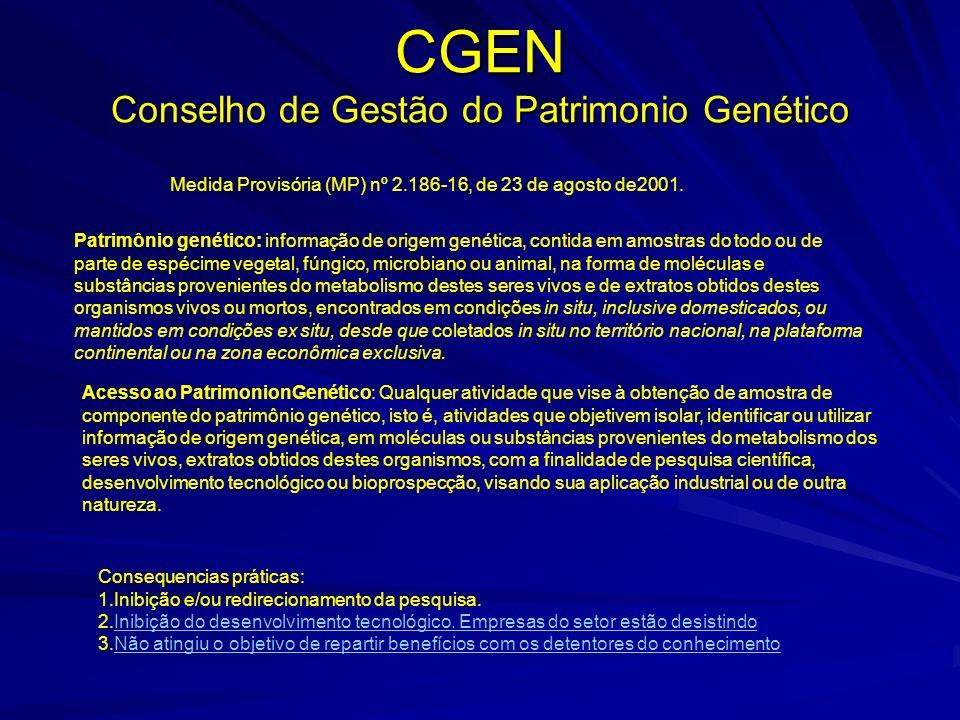 CGEN Conselho de Gestão do Patrimonio Genético