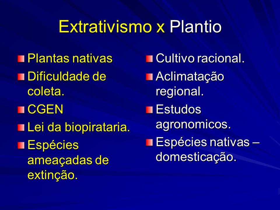 Extrativismo x Plantio