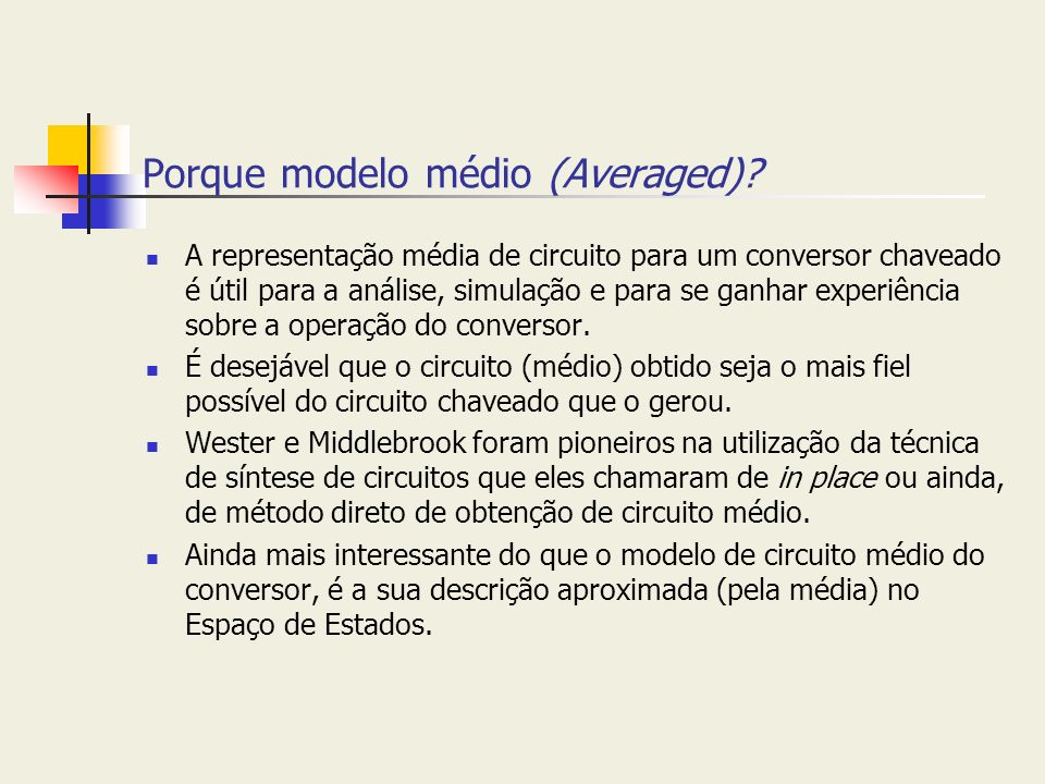 Porque modelo médio (Averaged)
