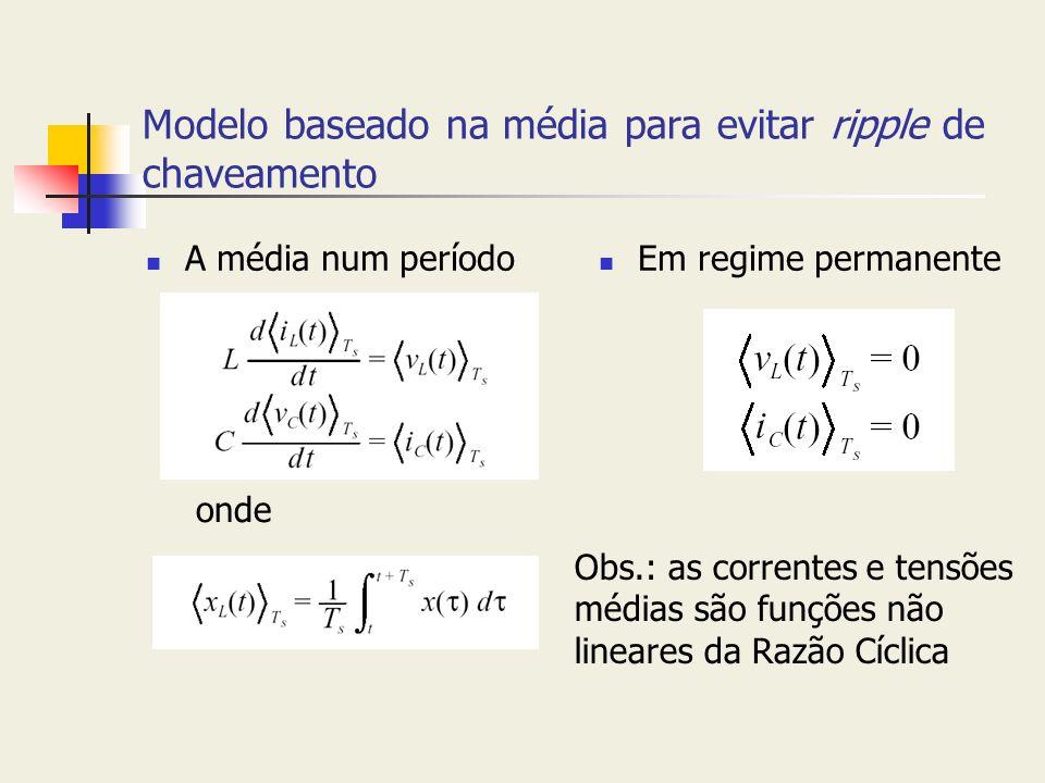 Modelo baseado na média para evitar ripple de chaveamento