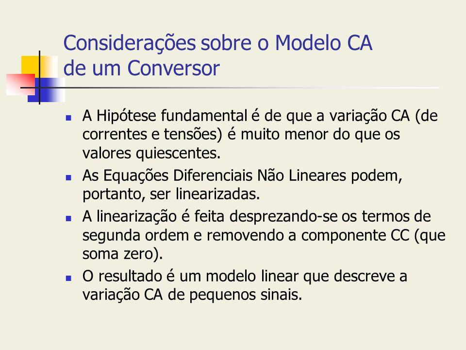 Considerações sobre o Modelo CA de um Conversor