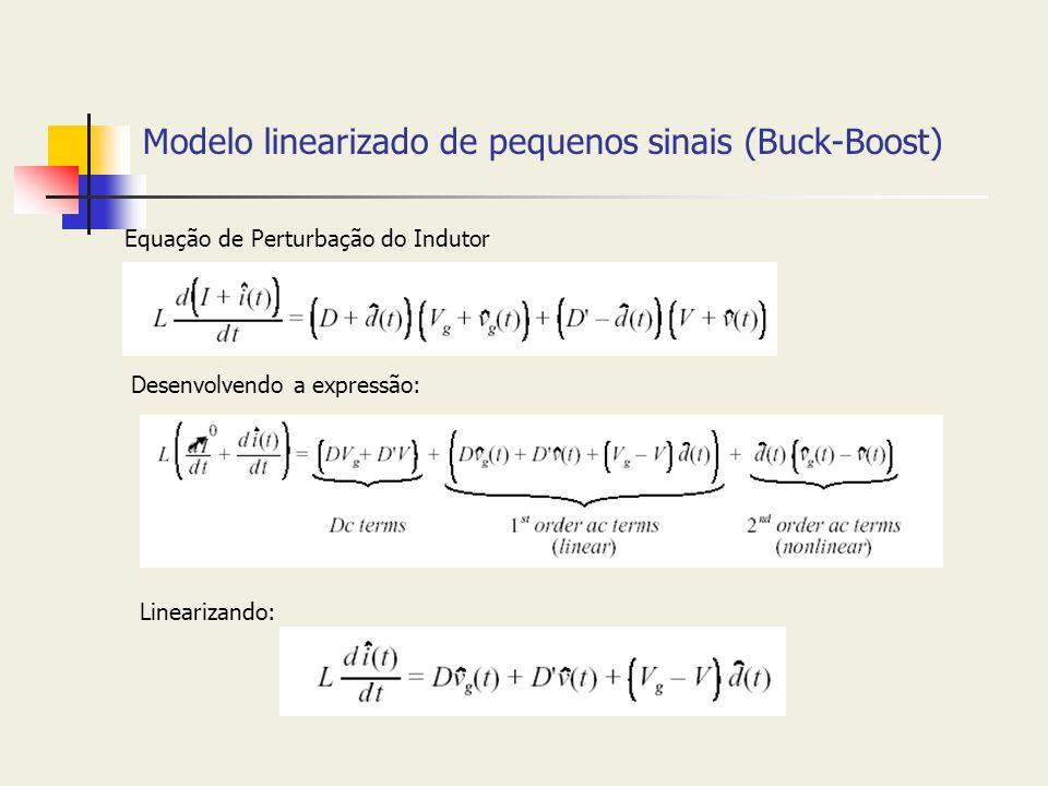 Modelo linearizado de pequenos sinais (Buck-Boost)