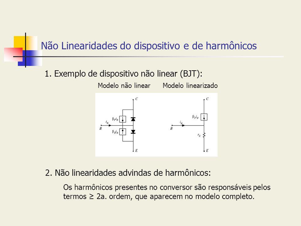 Não Linearidades do dispositivo e de harmônicos