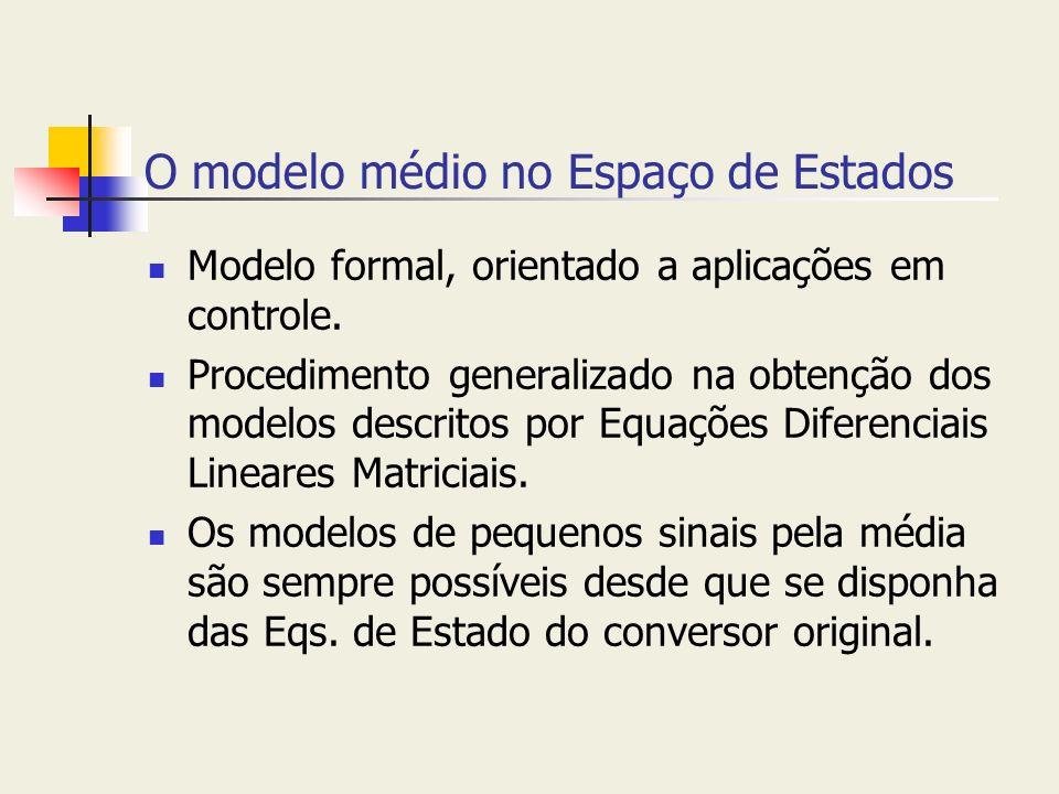 O modelo médio no Espaço de Estados