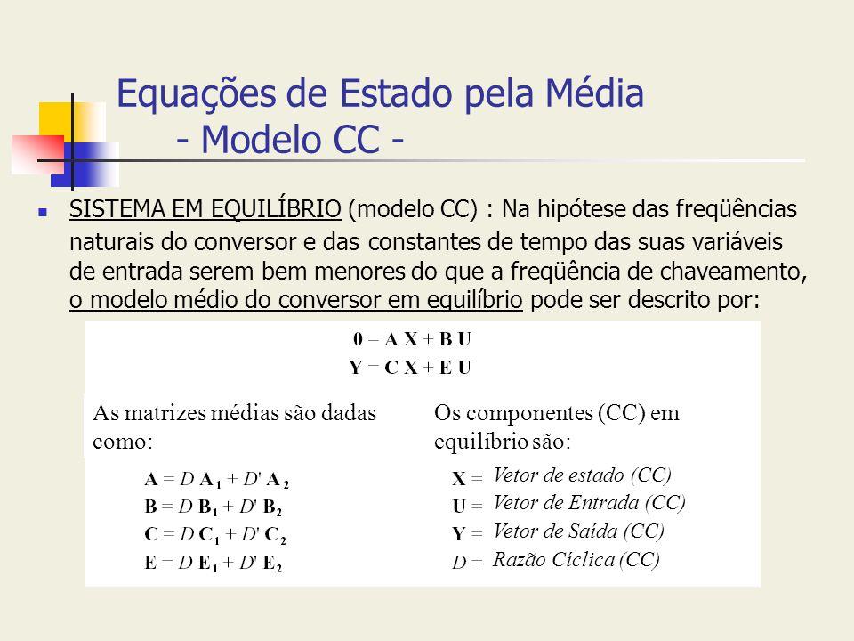Equações de Estado pela Média - Modelo CC -