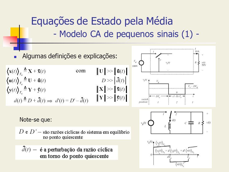 Equações de Estado pela Média - Modelo CA de pequenos sinais (1) -