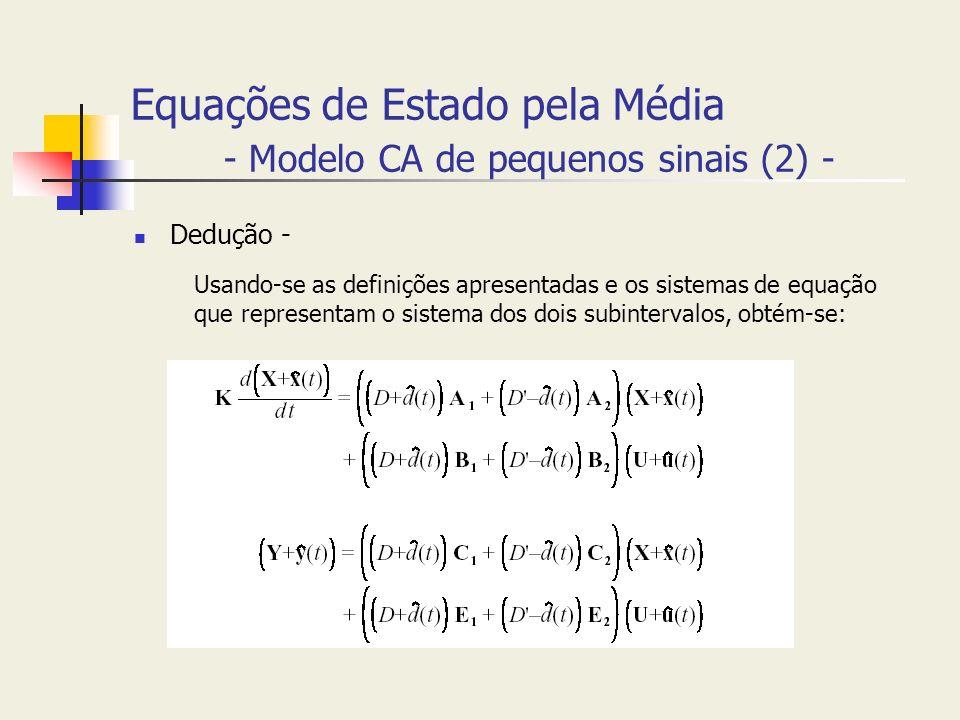 Equações de Estado pela Média - Modelo CA de pequenos sinais (2) -