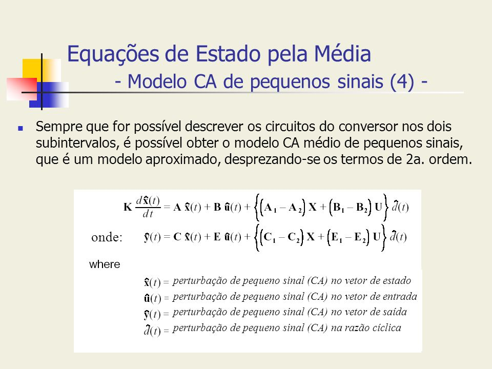 Equações de Estado pela Média - Modelo CA de pequenos sinais (4) -