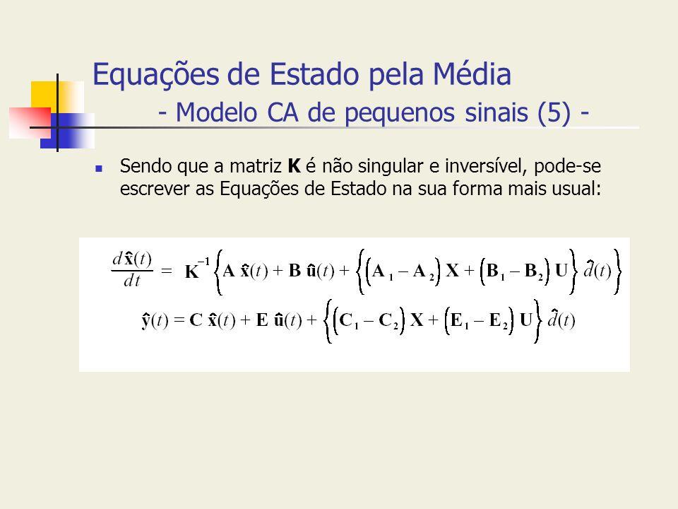 Equações de Estado pela Média - Modelo CA de pequenos sinais (5) -