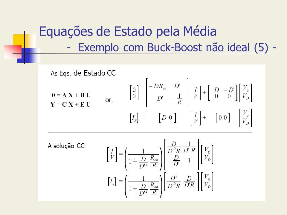 Equações de Estado pela Média - Exemplo com Buck-Boost não ideal (5) -