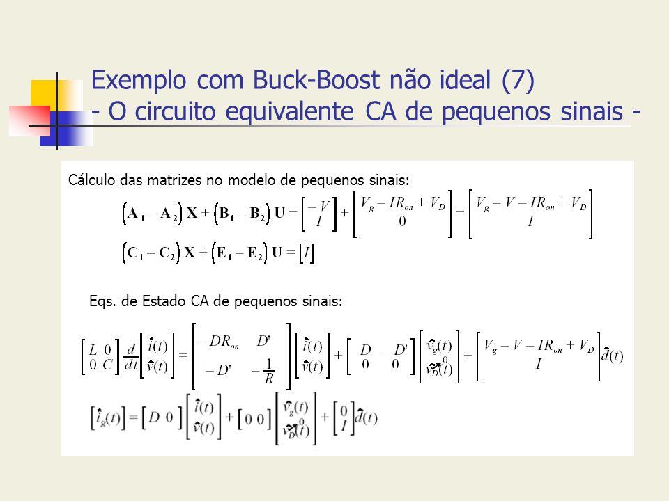 Exemplo com Buck-Boost não ideal (7) - O circuito equivalente CA de pequenos sinais -