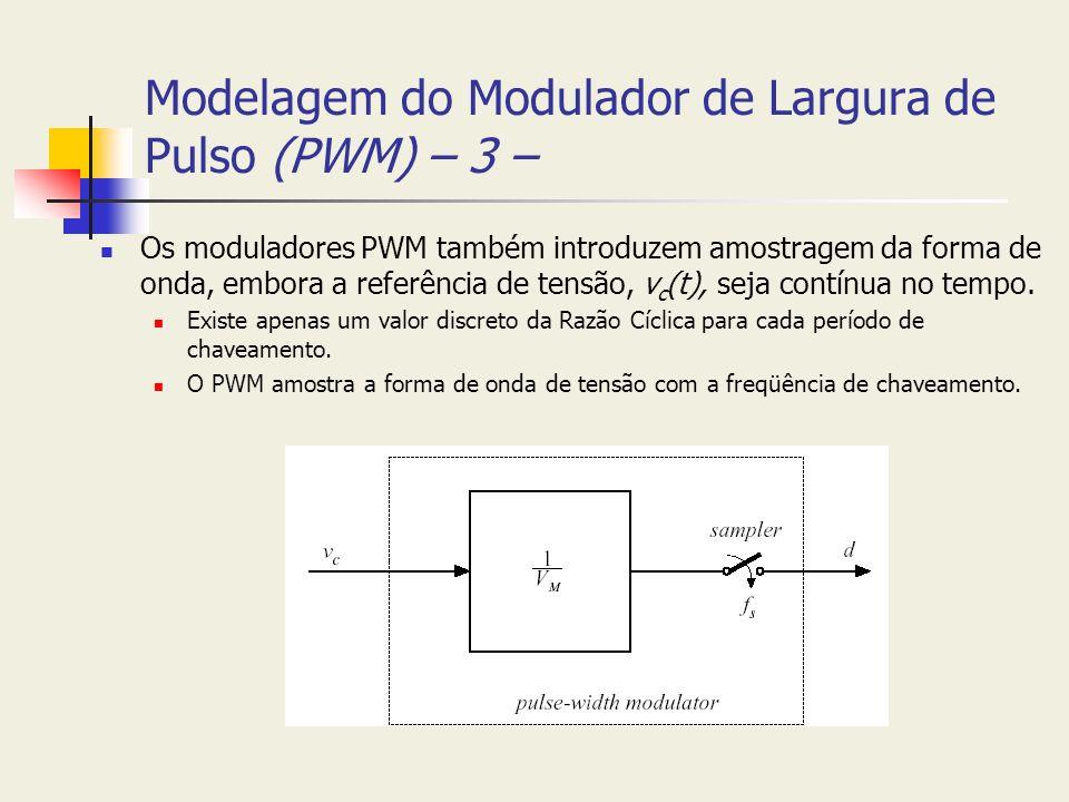 Modelagem do Modulador de Largura de Pulso (PWM) – 3 –
