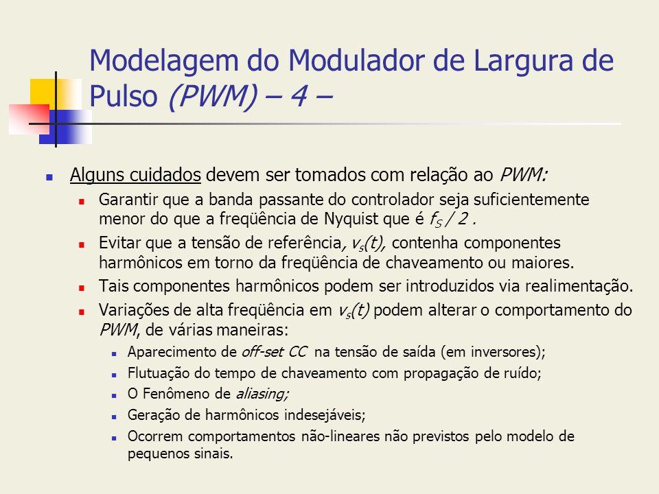 Modelagem do Modulador de Largura de Pulso (PWM) – 4 –