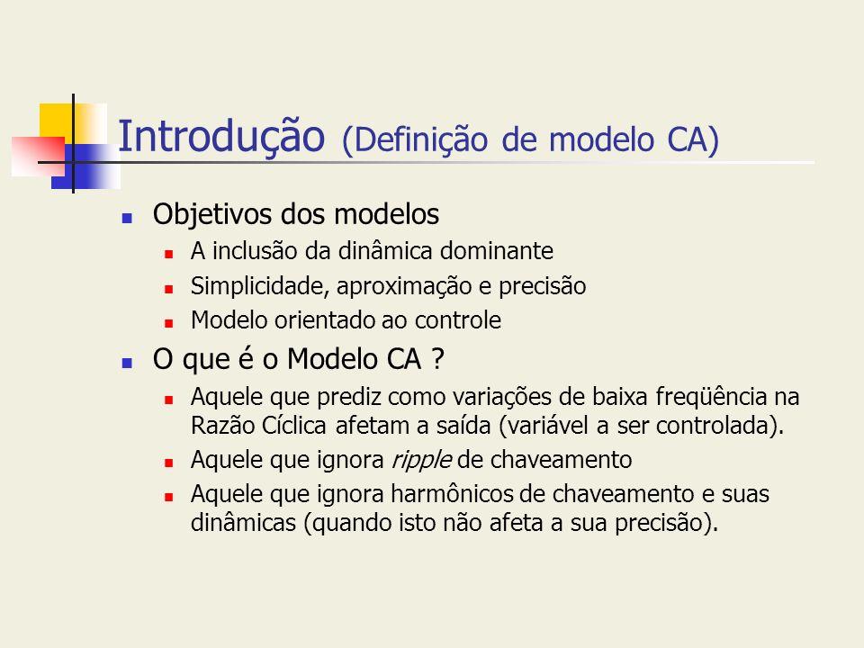 Introdução (Definição de modelo CA)